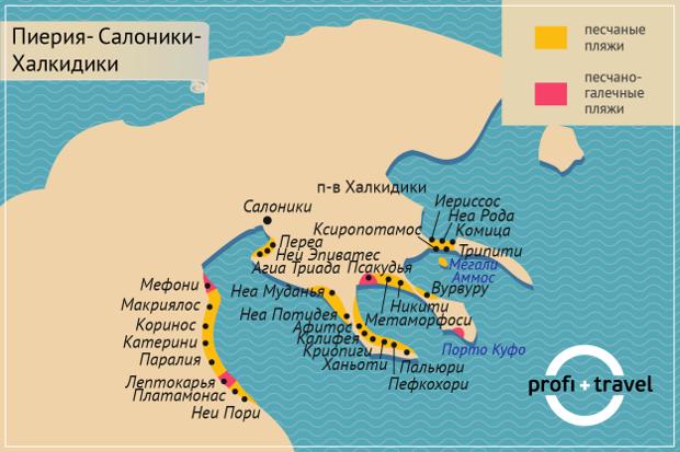 Пиерис-Салоники-Халкиддики ПЛЯЖИ