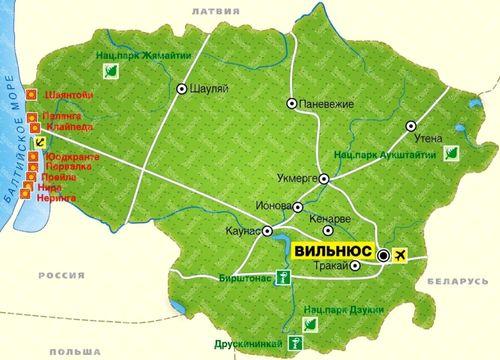 Литва map