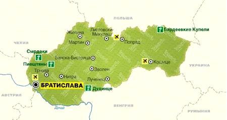 Словакия map