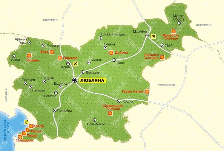 Словения map