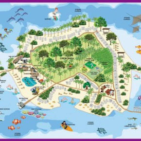 holiday inn resort kandooma map