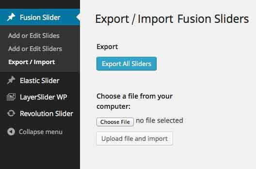 Slider Info Page