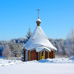 Зима в Карелии. Дорога к храму